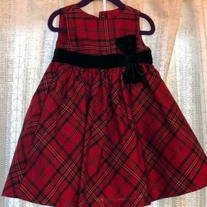Red Plaid Gymboree Holiday Dress 18-24m